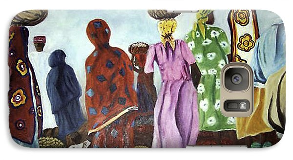 Galaxy Case featuring the painting Mombasa Market by Sher Nasser