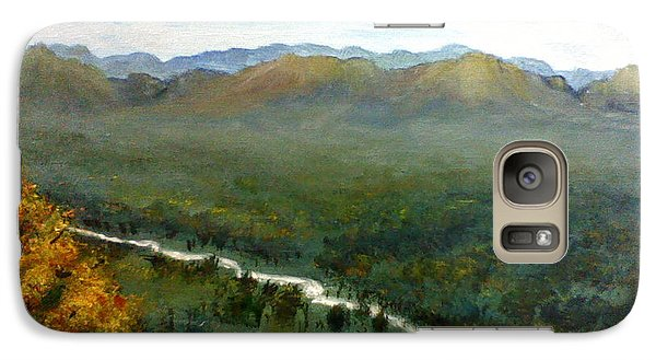 Galaxy Case featuring the painting Mom's Valley by J L Zarek