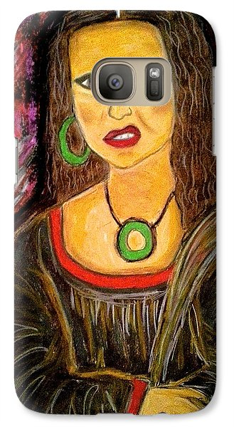 Galaxy Case featuring the pastel Mona Diva by Chrissy  Pena