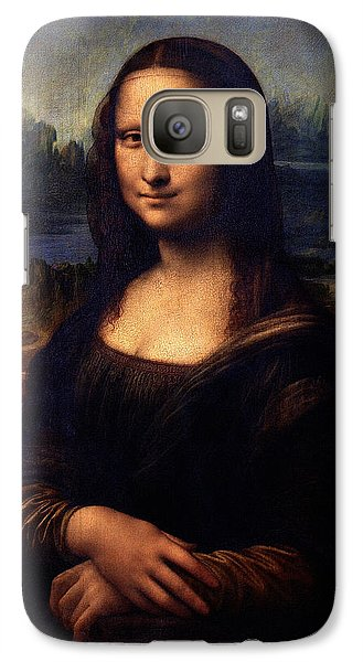 Galaxy Case featuring the painting Mona Lisa II by Karon Melillo DeVega