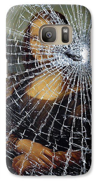 Galaxy Case featuring the photograph Mona Lisa Shattered by Brian Carson