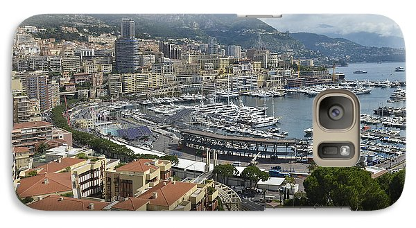 Galaxy Case featuring the photograph Monaco Harbor by Allen Sheffield