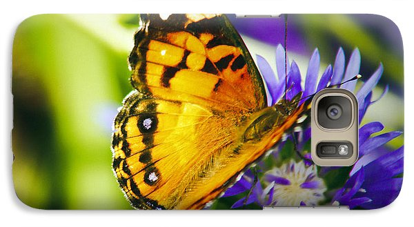 Galaxy Case featuring the photograph Monarch And Flower by Debra Crank