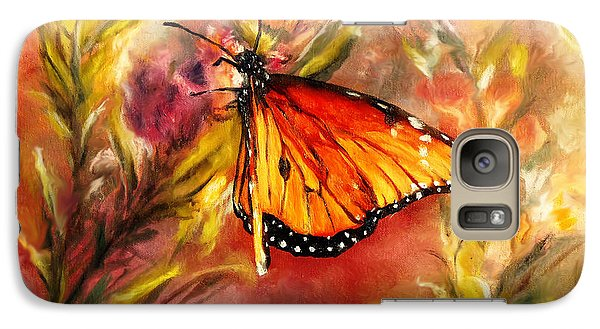 Galaxy Case featuring the painting Monarch Beauty by Karen Kennedy Chatham