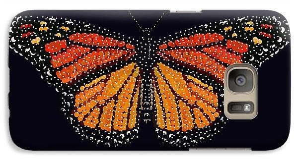 Galaxy Case featuring the digital art Monarch Butterfly Bedazzled by R  Allen Swezey