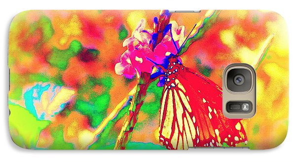 Galaxy Case featuring the painting Monarch Butterfly  by David Mckinney