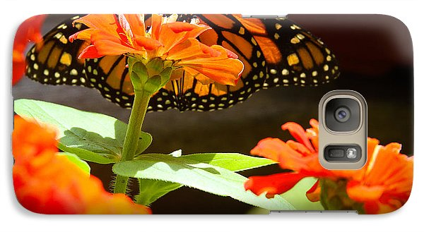 Galaxy Case featuring the photograph Monarch Butterfly II by Patrice Zinck