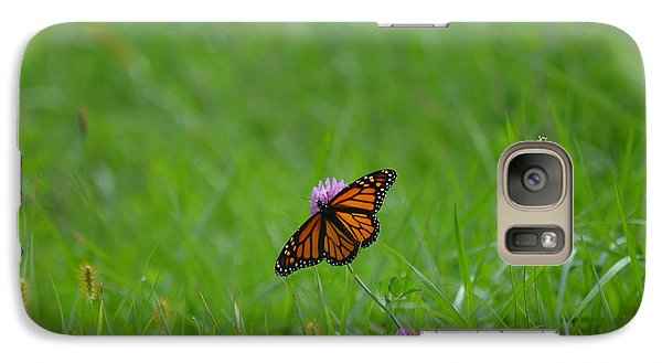 Galaxy Case featuring the photograph Monarch Butterfly by James Petersen