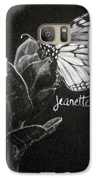 Monarch Butterfly On Milkweed Galaxy S7 Case
