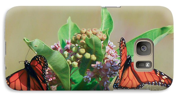 Galaxy Case featuring the photograph Monarch Gathering by Kerri Farley
