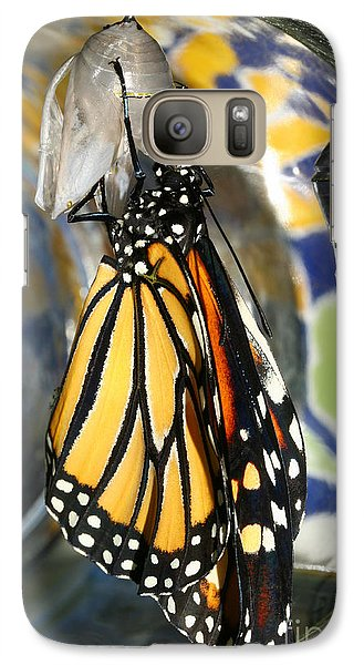 Galaxy Case featuring the photograph Monarch In A Jar by Steve Augustin