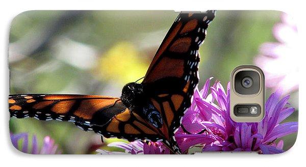Galaxy Case featuring the photograph Monarch Meditation by Kimberly Mackowski