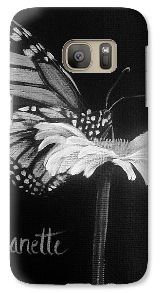 Monarch On A Daisy Galaxy S7 Case