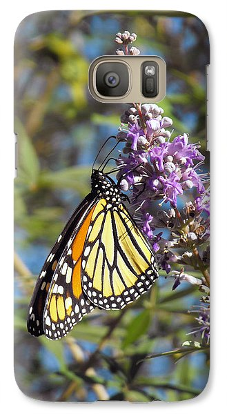 Galaxy Case featuring the photograph Monarch On Vitex by Jayne Wilson