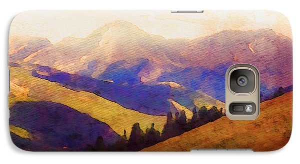 Galaxy Case featuring the painting Monarch Pass Colorado by Arthaven Studios
