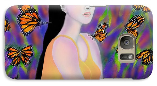 Galaxy Case featuring the digital art Monarchs by Latha Gokuldas Panicker