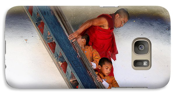 Galaxy Case featuring the digital art Monastery In Bhutan by Angelika Drake