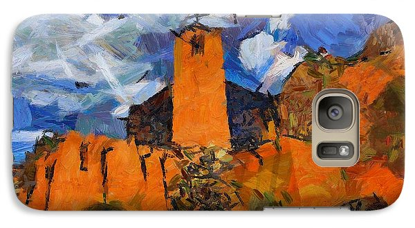 Galaxy Case featuring the digital art Monastery In The Clouds by Carrie OBrien Sibley