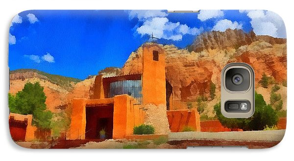 Galaxy Case featuring the digital art Monastery  In The Mountains by Carrie OBrien Sibley