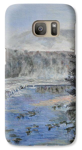 Galaxy Case featuring the painting Monday Morning Fog by Dottie Branchreeves