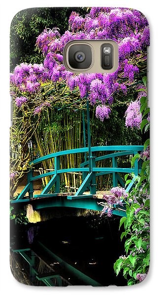 Galaxy Case featuring the photograph Monet Bridge by Jim Hill