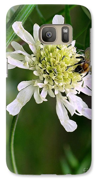 Galaxy Case featuring the photograph Monet's Garden Bee. Giverny by Jennie Breeze