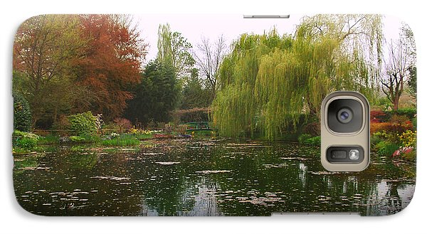 Galaxy Case featuring the photograph Monet's Gardens L by Kathy Ponce