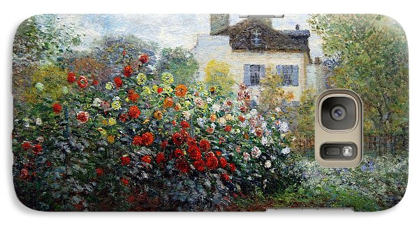 Galaxy Case featuring the photograph Monet's The Artist's Garden In Argenteuil  -- A Corner Of The Garden With Dahlias by Cora Wandel