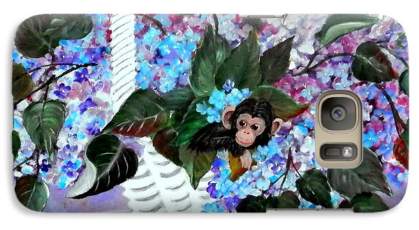 Galaxy Case featuring the painting Monkey Busines by Fram Cama