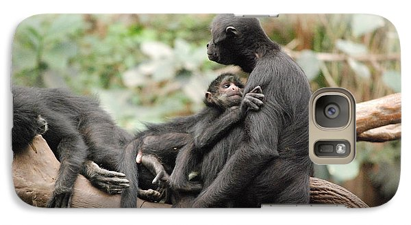 Galaxy Case featuring the photograph Monkey Love by Mark McReynolds