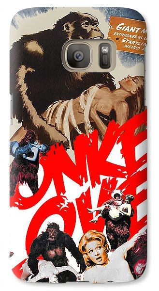 Galaxy Case featuring the digital art Monkey Love by Sasha Keen
