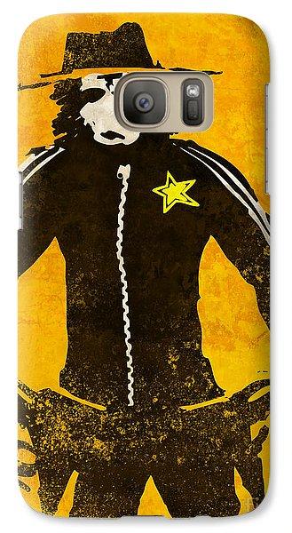 Ape Galaxy S7 Case - Monkey Sheriff by Pixel Chimp