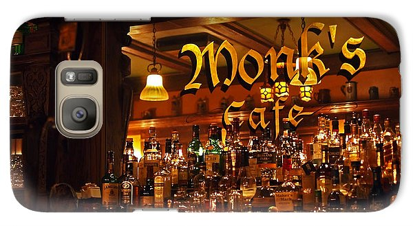 Monks Cafe Galaxy S7 Case by Rona Black
