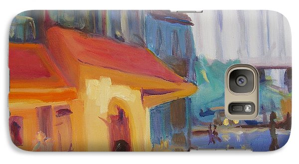 Galaxy Case featuring the painting Monmartre by Julie Todd-Cundiff
