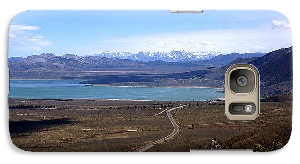 Galaxy Case featuring the photograph Mono Lake And The Sierra Nevada by Thomas Bomstad