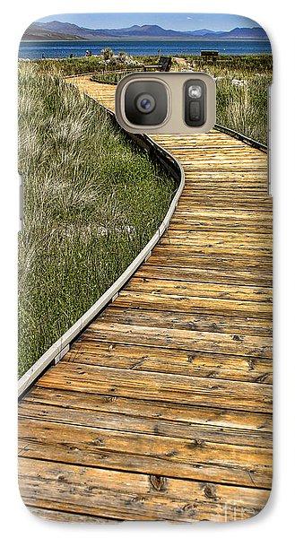 Galaxy Case featuring the photograph Mono Lake Boardwalk 2 by Jason Abando