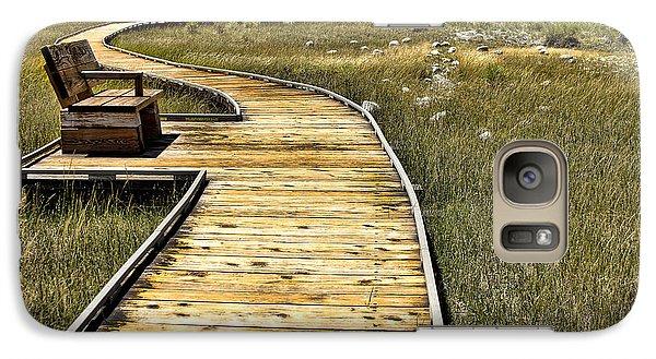 Galaxy Case featuring the photograph Mono Lake Boardwalk  by Jason Abando
