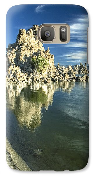 Galaxy Case featuring the photograph Mono Lake Shoreline Rock by Jim Snyder