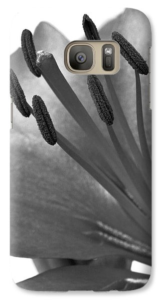 Galaxy Case featuring the photograph Monochrome Asian Lily by Anita Oakley