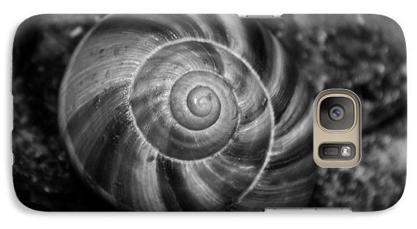 Galaxy Case featuring the photograph Monochrome Swirl by Mary Zeman