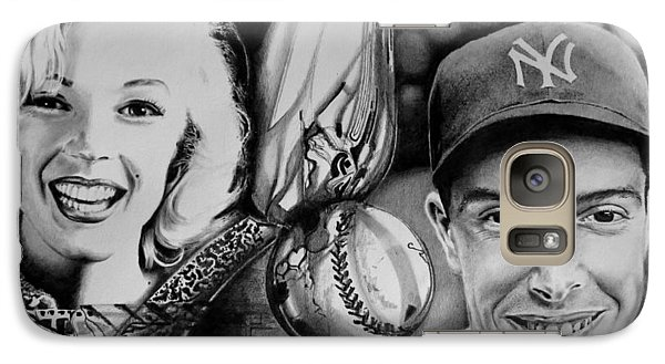 Galaxy Case featuring the drawing Monroe And Dimaggio by Geni Gorani