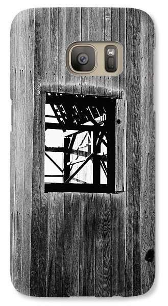 Galaxy Case featuring the photograph Monroe Co. Michigan Barn Window by Daniel Thompson
