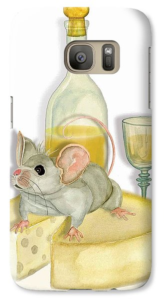 Galaxy Case featuring the painting Monsieur Mouse by Anne Beverley-Stamps