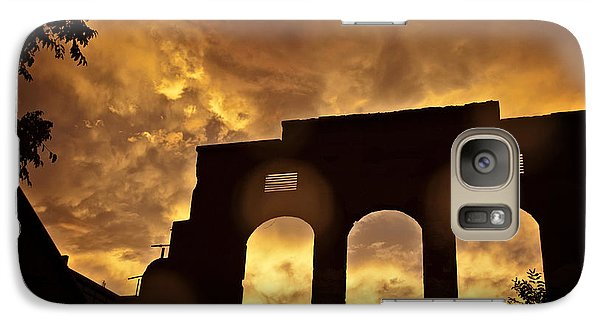Galaxy Case featuring the photograph Monsoon Clouds And The La Victoria In Jerome Az by Ron Chilston