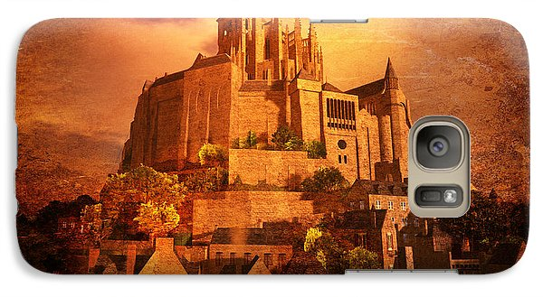 Galaxy Case featuring the digital art Mont Saint-michel by Kylie Sabra