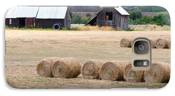 Galaxy Case featuring the photograph Montana Bales by Vinnie Oakes