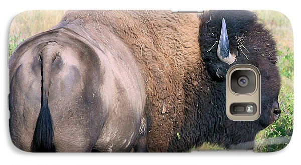 Galaxy Case featuring the photograph Montana Buffalo Bison Bull by Karon Melillo DeVega