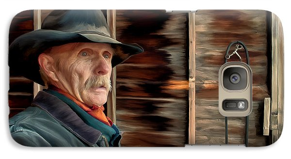 Galaxy Case featuring the painting Montana Cowboy by Michael Pickett