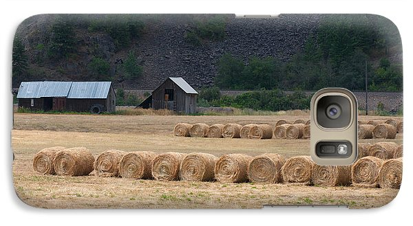 Galaxy Case featuring the photograph Montana Hay Harvest by Vinnie Oakes