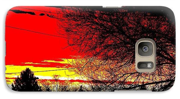 Galaxy Case featuring the digital art Montana January Sunset by Aliceann Carlton